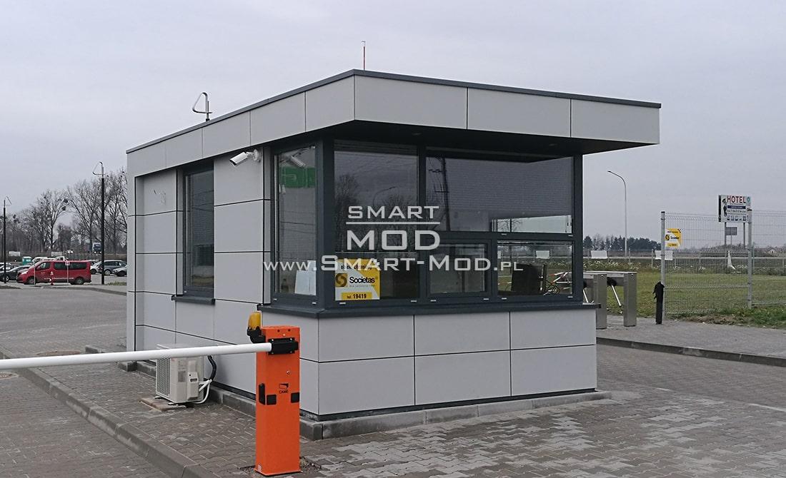 portiernie projekt stróżówka modułowa przy szlabanie
