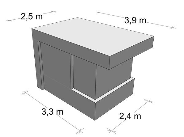 schemat stróżówki modułowej